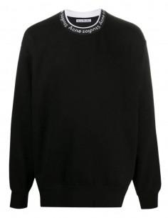 Sweatshirt ACNE STUDIOS noir col à logo contrasté pour homme - SS21