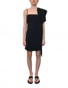 Asymmetric black BARBARA BUI wrap dress - SS21