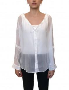 ISABEL BENENATO white blouse with drawstrings - SS21