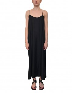 ISABEL BENENATO long black dress with thin straps - SS21