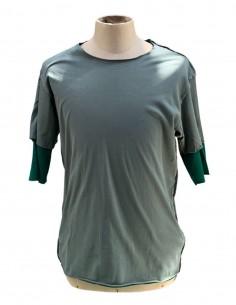 Double t-shirt ATTACHMENT vert et kaki pour homme - SS21