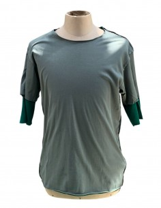 Green and khaki ATTACHMENT double t-shirt for men - SS21