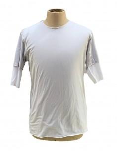 Double t-shirt ATTACHMENT gris et blanc pour homme - SS21