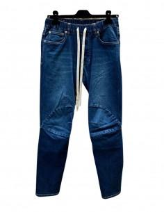 Jean bleu ATTACHMENT taille élastique avec cordons pour homme - SS21