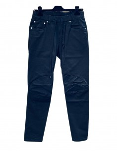 Black ATTACHMENT jeans with elastic waist and drawstrings for men - SS21