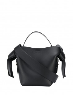 """ACNE STUDIOS """"Musubi"""" bag in black leather for women, small size - SS21"""