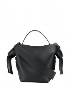 """Sac à main """"Musibi"""" ACNE STUDIOS en cuir noir pour femme format petit double pochettes - SS21"""