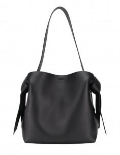"ACNE STUDIOS ""Musubi"" bag in black leather for women, medium size - SS21"