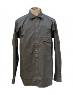 ISABEL BENENATO khaki shirt with black band for men - SS21