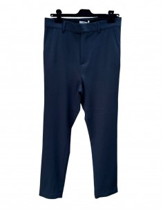 ISABEL BENENATO pants in blue wool with band for men - SS21