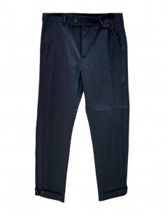 Pantalon à revers ISABEL BENENATO noir avec bande pour homme - SS21