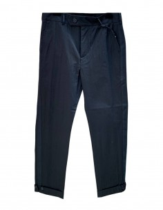 ISABEL BENENATO black cuffed pants with band for men - SS21