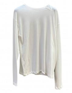 ISABEL BENENATO white long-sleeved t-shirt for men - SS21