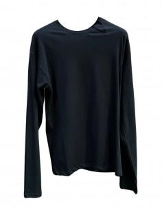 T-shirt noir ISABEL BENENATO à manches longues pour homme - SS21