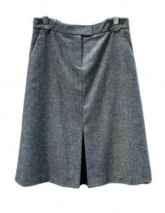 Jupe BARBARA BUI fendue en laine chinée grise - SS21