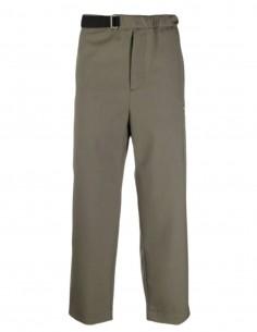 OAMC khaki pants with elastic waist and zipped pocket for men - SS21