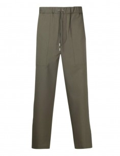 OAMC wide blue pants with elastic waist and ties for men - SS21