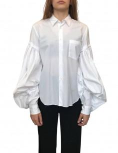 Chemise blanche à manches bouffantes Comme des Garçons Homme Plus