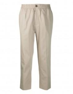 Pantalon à pinces AMI PARIS beige pour homme avec taille élastique - SS21