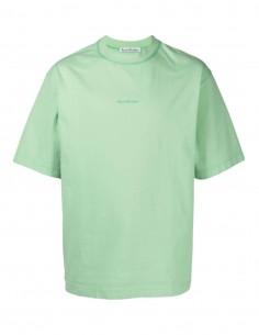 T-shirt classique vert ACNE STUDIOS oversize pour homme avec logo imprimé - SS21