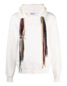 AMBUSH ecru multi-string hoodie for men - SS21