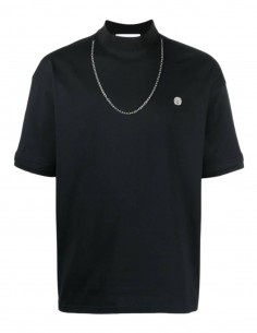 AMBUSH black t-shirt with chain for men - SS21