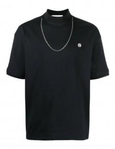 T-shirt AMBUSH noir col montant avec chaine pour homme - SS21