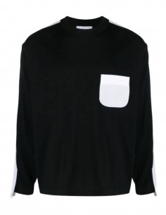AMBUSH black and white sweater with front pocket for men - SS21