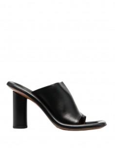"""Mules """"Cushion"""" AMBUSH en cuir noir à talon cylindrique - SS21"""