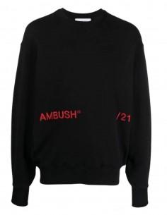 Unisex black AMBUSH sweatshirt with logo on front - SS21