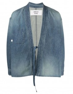 Kimono AMBUSH en jean denim bleu à nouer pour homme - SS21