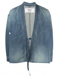 AMBUSH kimono in blue denim to tie for men - SS21