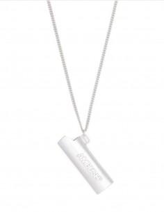 Unisex necklace AMBUSH lighter case in silver - SS21