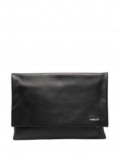 Pochette ordinateur AMBUSH en cuir noir avec logo - SS21