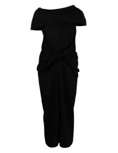 AMBUSH black dress with bow cowl neck - SS21
