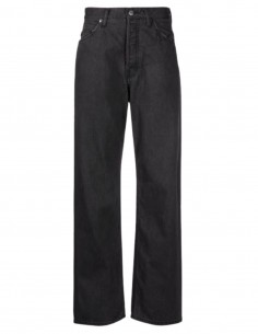"""AMBUSH """"Relax"""" black jeans with logo patch for women - SS21"""