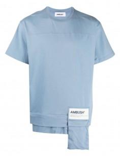 T-shirt AMBUSH poche zippée bleu ciel - SS21