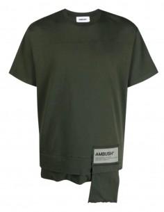 T-shirt AMBUSH poche zippée kaki - SS21