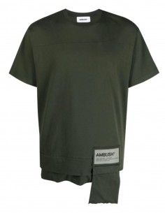 Khaki AMBUSH zipped pocket T-shirt - SS21
