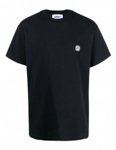 Black AMBUSH t-shirt with small round logo on chest for men - SS21