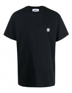 T-shirt AMBUSH noir avec petit logo rond poitrine pour homme - SS21