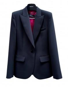 Veste tailleur BARBARA BUI noire avec surpiqûres pour femme - SS21