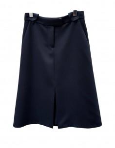 BARBARA BUI black slit skirt - SS21