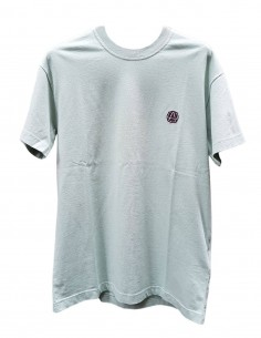 Green AMBUSH t-shirt with small round logo on chest for men - SS21
