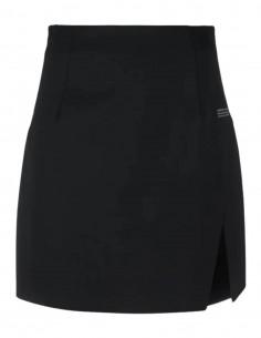 Mini jupe OFF-WHITE noire taille haute avec fente sur le côté - SS21