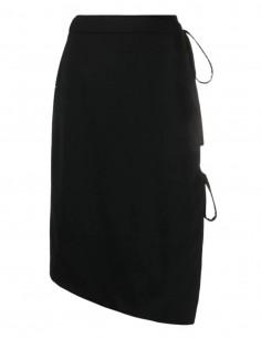 Jupe portefeuille OFF-WHITE noire ouverte sur le coté - SS21
