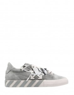 """Grey and white """"Vulcanized"""" unisex sneakers with Zip Tie tongue - SS21"""