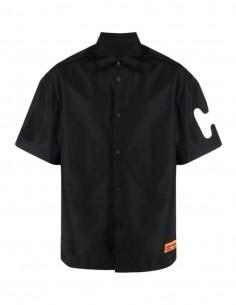 Oversized black bowling style shirt HERON PRESTON for men - SS21