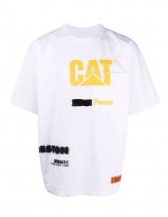 HERON PRESTON x Caterpillar white t-shirt with logo for men - SS21