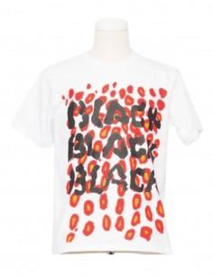 White COMME DES GARÇONS BLACK t-shirt with leopard print for men - SS21